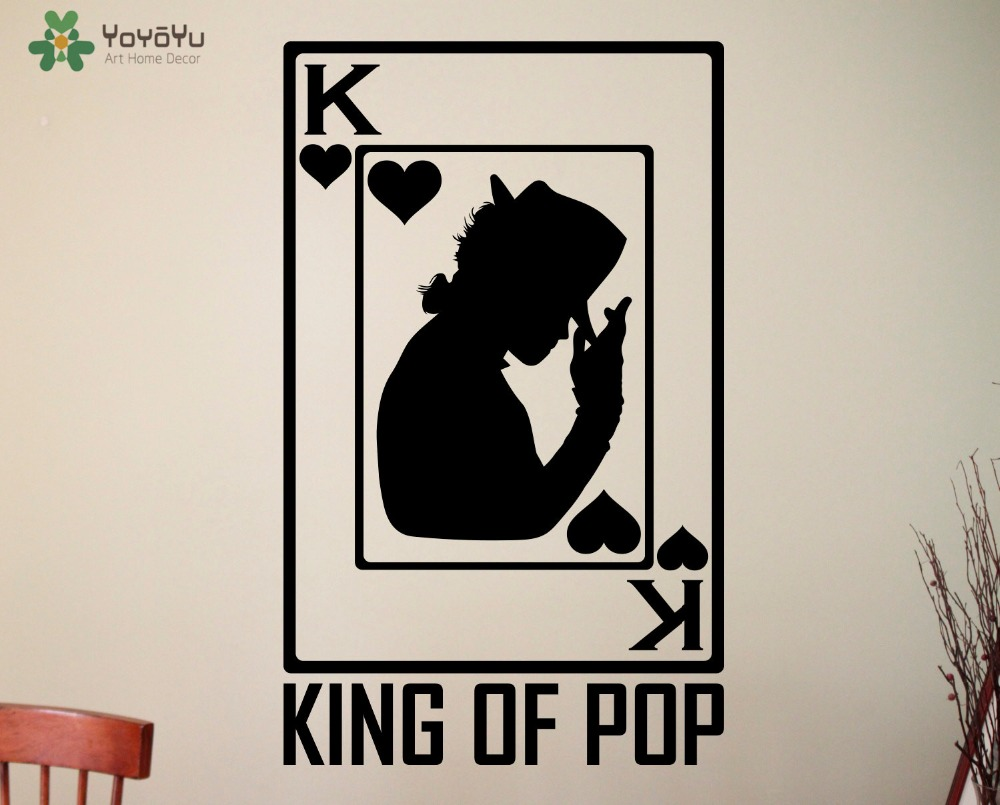 popular playing card stickers buy cheap playing card stickers lots michael jackson wall stickers american singer vinyl wall decal king of pop music fan decor playing