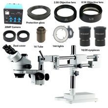 16MP 1080P HDMI USB Digital video Phone microscope camera 3.5X 7X 45X 90X Double Arm Boom Stand trinocular stereo Microscope 16mp hdmi 3 5x 7x 45x 90x continuous zoom simul focal trinocular stereo microscope usb phone video camera 0 5x 2 0x barlow lens