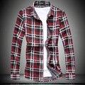 Plus size code M-7XL 2016 new arrival men's shirts long-sleeved shirt brand men's fashion casual plaid shirt