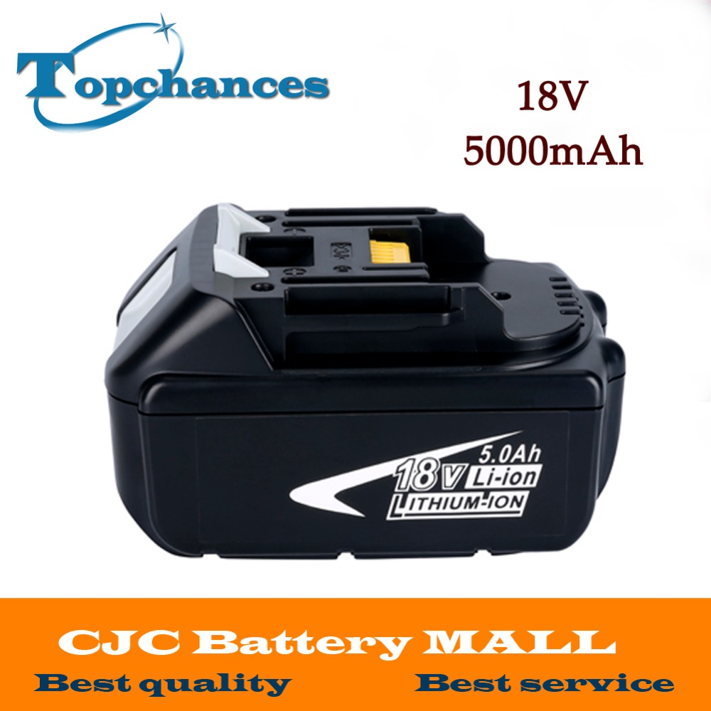 High Capacity 5000mAh 18V Li-ion Replacement Battery for Makita BL1850 BL1830 BL1845 BL1840 LXT With Power Light high quality brand new 3000mah 18 volt li ion power tool battery for makita bl1830 bl1815 194230 4 lxt400 charger