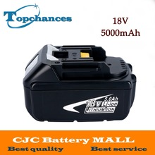 High Capacity 5000mAh 18V Li-ion Replacement Battery for Makita BL1850 BL1830 BL1845 BL1840 LXT With Power Light
