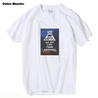 Fall Out Boy T Shirt Men 2017 Somos Como Joven de Volcanes Escena Nocturna FOB Tee Música de Banda de Manga Corta Top Camisetas Personalizadas 3XL