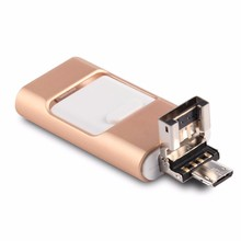 Hot sale external storage 16GB USB 2.0 otg micro 3 in 1 multifuntion usb flash drive for iphone 6 6 plus 5 5s