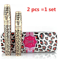 New Waterproof Like Double Mascaras Brand Makeup Set Leopard Eyelashes Extension Fiber Mascara Grower eye lashs Make up Cosmetic