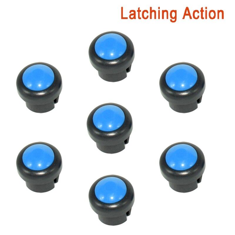 7 x кнопка включения мотоцикла сигнал поворота Высокий Низкий Луч Электрический старт Kill ON OFF кнопки мгновенного действия с фиксацией - Цвет: Blue A
