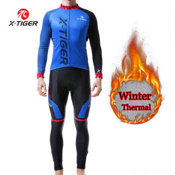 X-TIGER Long Sleeves Cycling Jerseys Set 2019 Winter Thermal Fleece Bicycle MTB Bike Cycling Clothing Ropa Maillot Ciclismo Mans - SALE ITEM Sports & Entertainment