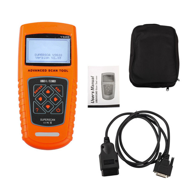 Professional VS600 Scanner for All OBDII EOBD OBD CAN Automotive Auto Vehicles Diagnostic Tool Code Readers & Scan Tools