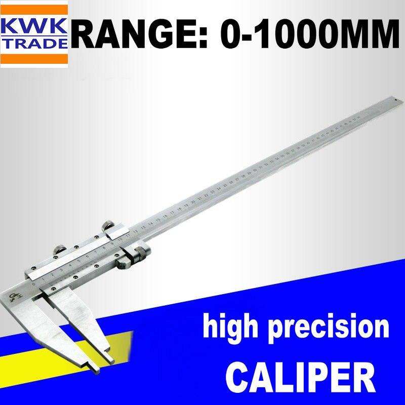 Caliper 1000 milímetros Grande Longa Faixa Metric 0-1000 milímetros Compassos de Calibre Vernier Calibre Micrômetro de Aço Inoxidável Ferramentas de Medição de Alta precisão