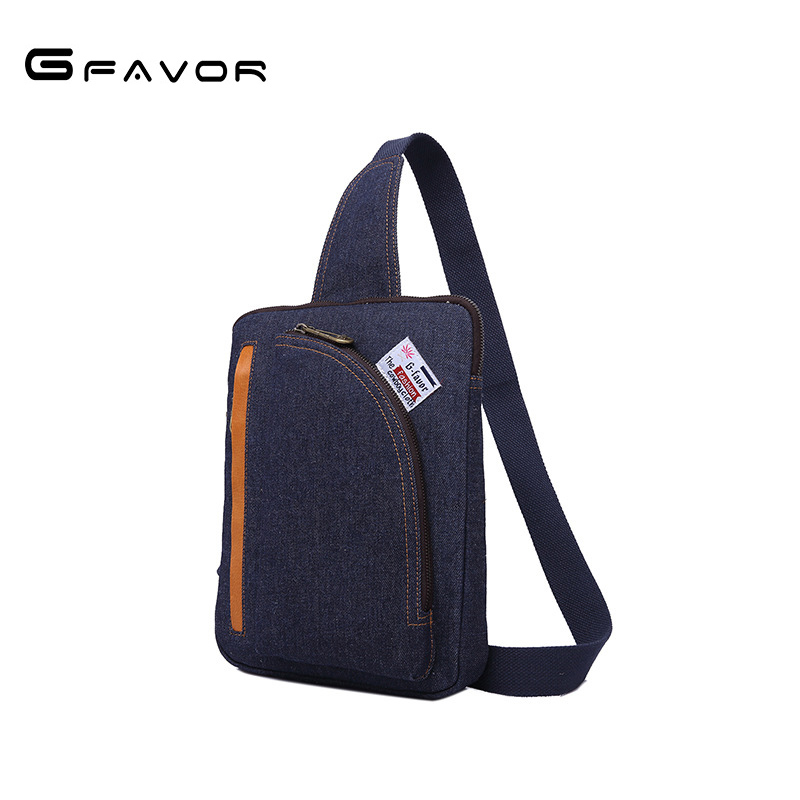 G-FAVOR Famous Design Messenger Ipad Business Bags Shoulder Chest bag For men High Quality Canvas Denim Crossbody Handbag Brands
