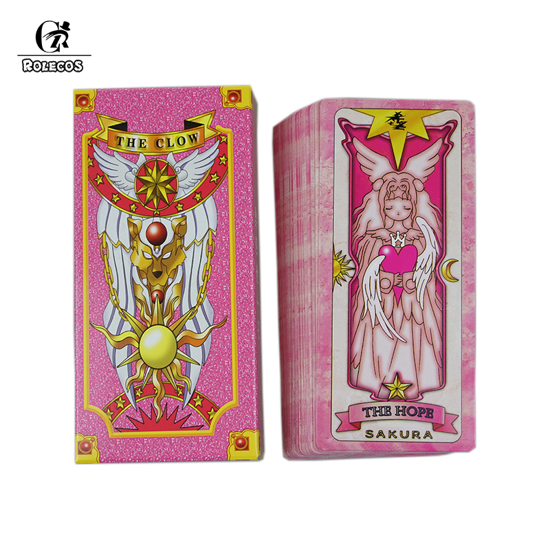 Novelty & Special Use Costumes & Accessories Humorous Japanese Anime Card Captor Kinomoto Sakura Tarot Cards Clear Card Cardcaptor Transparent Acrylic Magic Clow Cards Cosplay Props At Any Cost