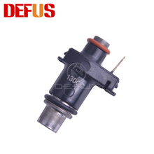 1X Motorcycle Fuel Injector 130CC/MIN 6 Holes Nozzle Fuel Injection For Yamaha R125 FZ150 Flow Valve Injectors Replacement Black