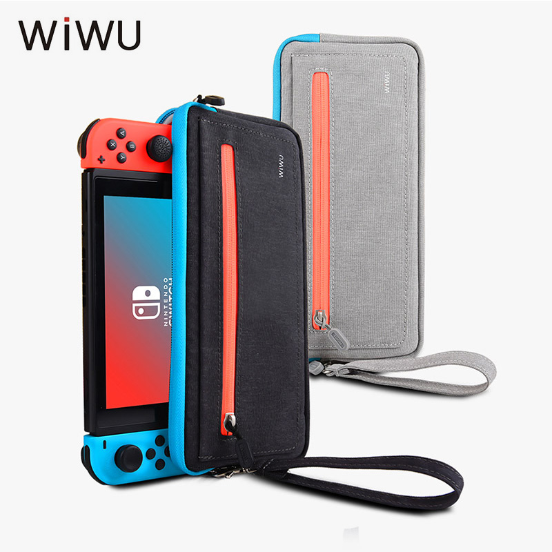 WIWU Case For Nintendo Switch Portable Travel Carrying Case Storage Pouch Bag For Nintendo Switch NS Console With 5 Game Holder smatree n500 for switch case handbags ns carrying case storage carrying case portable travel bag for nintend switch accessories
