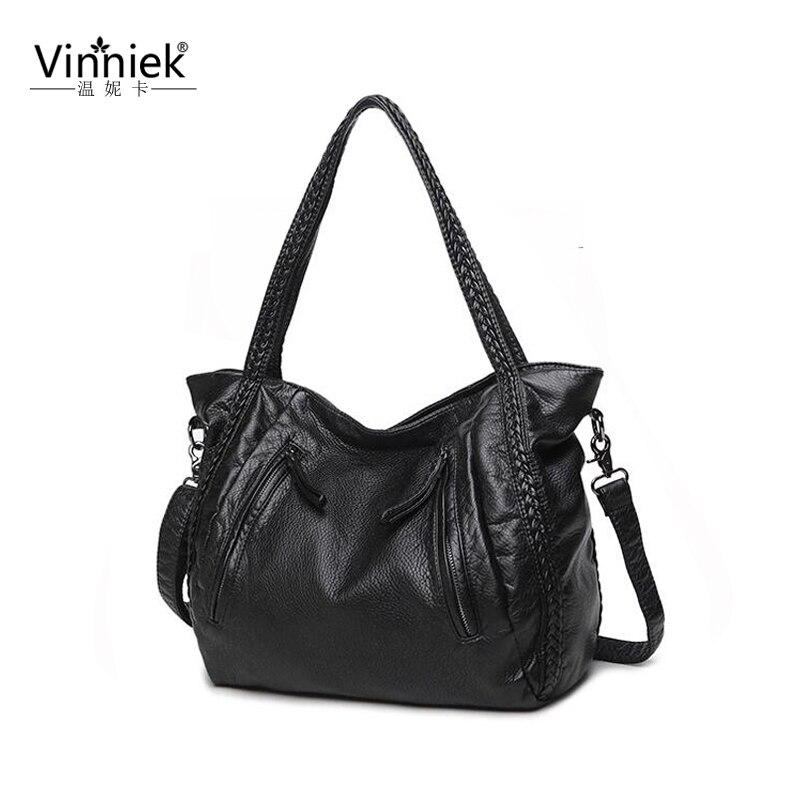Fashion Winter Big Women Bags Female Casual Totes Famous Brand Large Handbags Luxury Designer Messenger High Quality Knitting PU