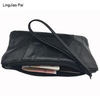 LingJiao Pai Large Capacity Fashion Women Wallets Long Sheepskin Leather Wallet Female Zipper Clutch Coin Purse