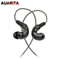 Newest ASK Coil Iron Earphone Balanced Armature And Dynamic Two Unity Earbuds HIFI Hybrid Technology DIY