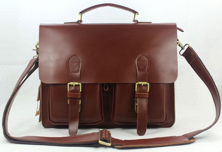 new high class italian genuine leather messenger bag men