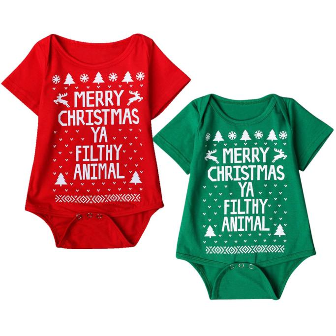 HTB1qSMMhbGYBuNjy0Foq6AiBFXa2 - New 2016 new born baby clothes  Boys Girls Printed Christmas Romper Jumpsuit Xmas winter romper ld ourlove bebes