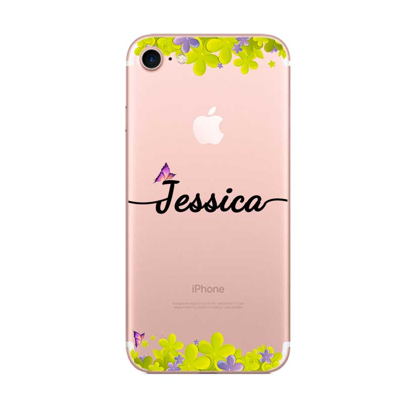 Private custom Your Name DIY Case Cover For iPhone X XS XR Max 5 5s SE 6 6s 7 8 Plus in Fitted Cases from Cellphones Telecommunications
