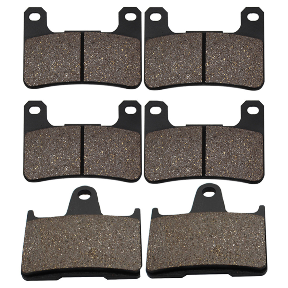 Cyleto Motorcycle Front and Rear Brake Pads for Suzuki GSXR600 GSXR 600 04-05 GSXR750 GSXR 750 04-05 GSXR1000 GSXR 1000 K2 04-06 motorcycle front and rear brake pads for honda vt250fl spada castel 1988 1990