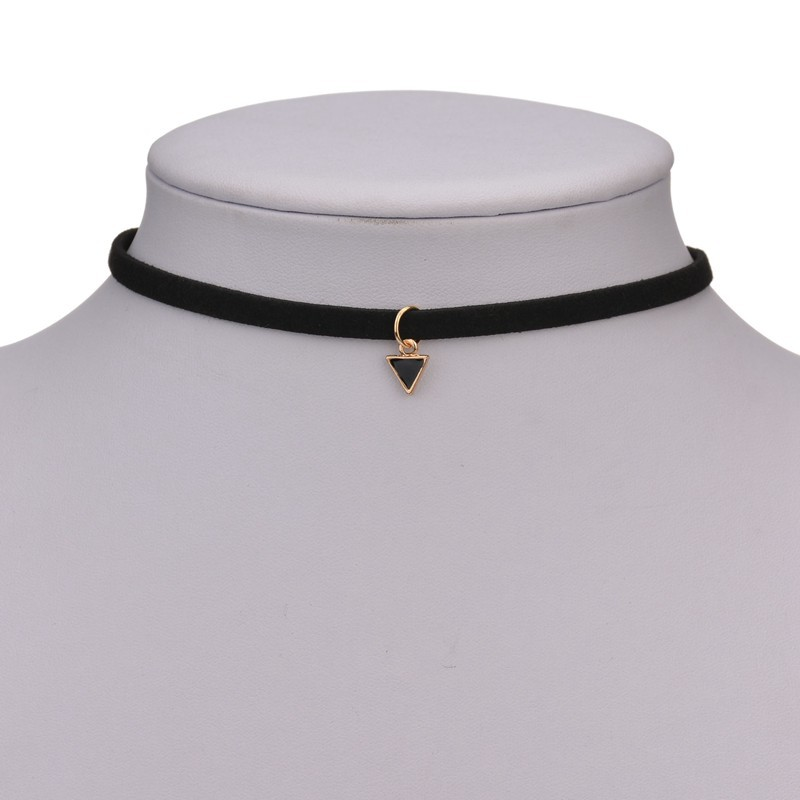 Fashion Triangle Geometric Pendant Necklace Short women 39 s necklace Female accessories Jewelry For women chain Choker Party gift in Pendant Necklaces from Jewelry amp Accessories