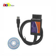 2016 New Version ELM 327 V1.5 OBD 2 ELM327 USB Interface CAN-BUS Scanner Diagnostic Tool Cable Code Support OBD-II Protocols