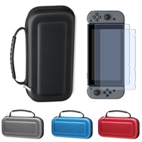 Carry Case For Nintend Switch Travel Carry Bag Shell With Handle 2PCS HD Tempered Glass Screen