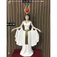 Resin Egyptian Goddess Isis Queen Figurine Home Decoration Crafts Ornaments Accessories Egypt Statuette Crafts R1303