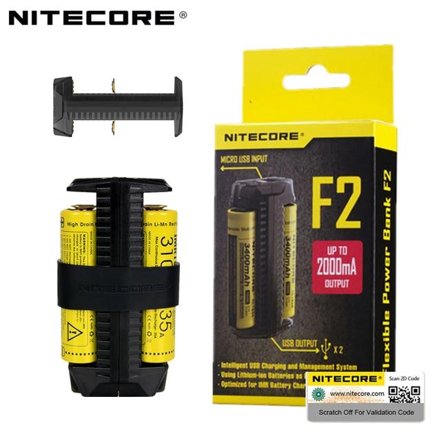 NITECORE F2 F1 Flexible Power Bank 2A Smart Li ion IMR Battery 2 Slots USB Charger Lightweight Portable Power Source Adapter