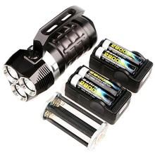 Sofirn мощный Дайвинг флэш светильник 3 * Cree XPL 3000LM светодиодный фонарь светильник подводный поиск светильник SD01 с 4*18650 батареей