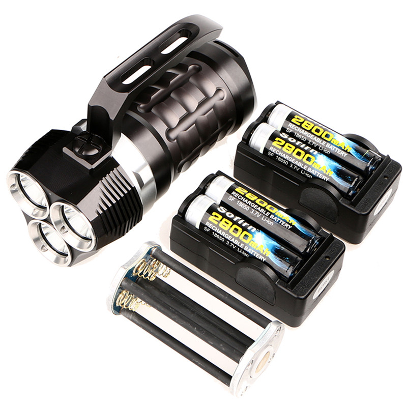 Sofirn Poderoso 3 * Cree XPL 3000LM Scuba Diving Flashlight LED Torch Light Underwater Holofote SD01 com 4*18650 bateria