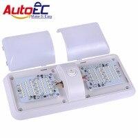 AutoEC 1pcs RV Dome light Roof Ceiling Interior reading Light dual colors 2835 12V LED For Camper Car Boat Trailer lamp #LQ404
