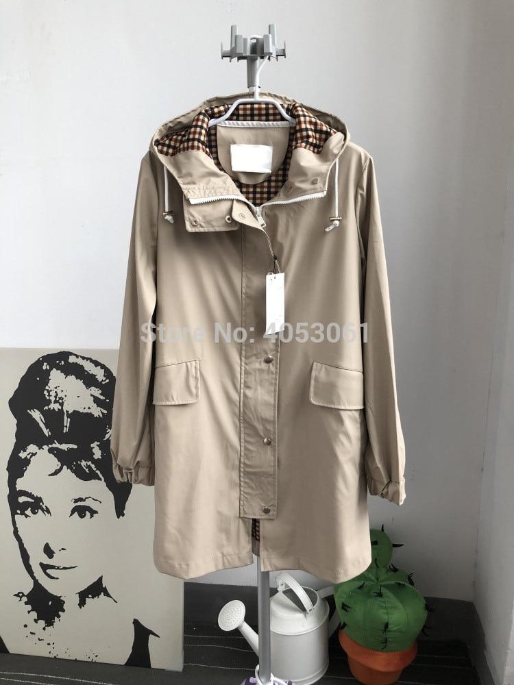 De Casual Outwear beige Beige Capucha Nuevo Capa Las Con Cazadora negro Impermeable Trench Mujeres Parker 2018 Negro hembra 7xYq5wF