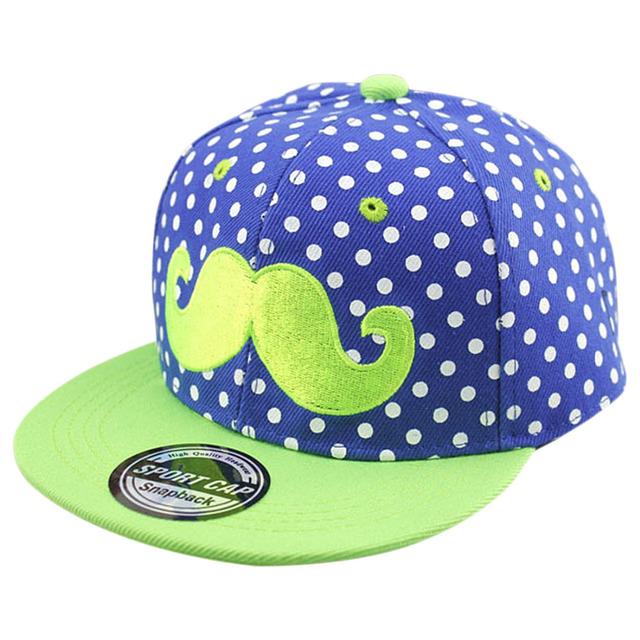 Garçons Filles Snapback Casquettes New Enfants Réglable Chapeaux Hip-Hop Casquette de baseball Barbe