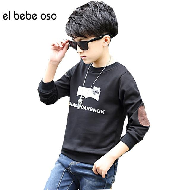 el bebe oso New 2016 Baby Boys Velvet Long Sleeve T Shirt Boys Autumn Winter Soft T-shirt Kids Cute Children Fashion Tops XL543
