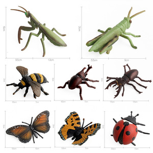 Image 4 - High Quality Simulation Insects Model Toys Mantis Bees Butterfly Spider Animal Model Collection Toys for Kid Children Gifts