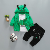 Baby Girl Clothes 2019 Spring Autumn Cartoon Hooded Jacket + Shirts Top + Pants Male Baby Suit Bebes Jogging Suits Tracksuits