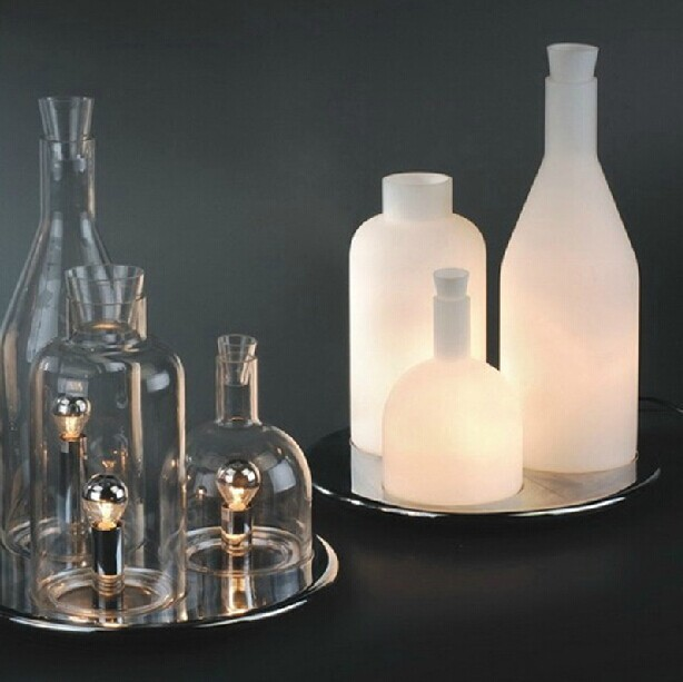 Nordic Wine Bottles Table Lamps Modern Creative Glass