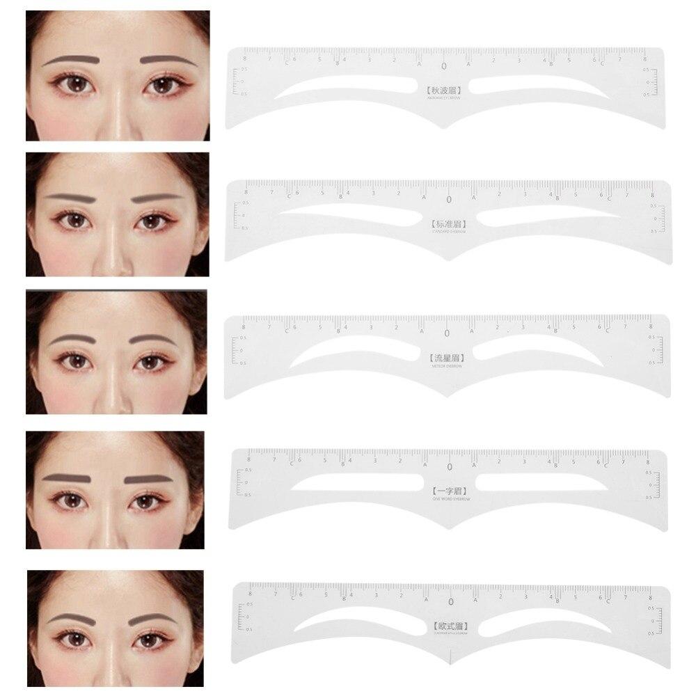 50 Pcs Einweg Augenbraue Tattoo Herrscher Aufkleber Permanent Make-up Microblading Messen Augenbraue Schablone Tattoo Liefert Genaue Heißer