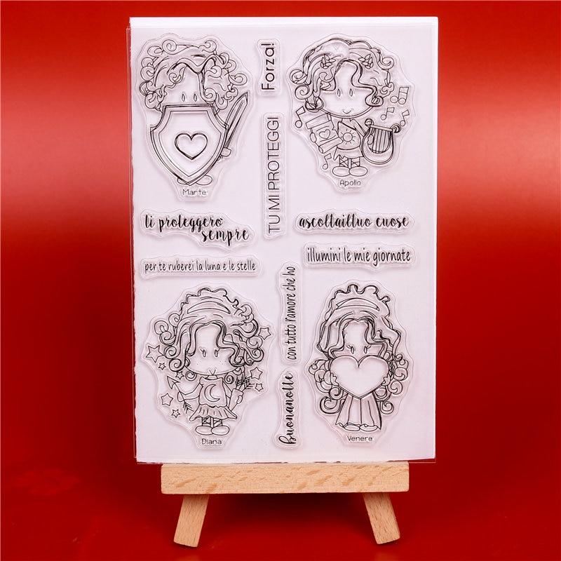 Italia word Transparent Clear szilikon bélyegző vágókészülékek - Művészet, kézművesség és varrás