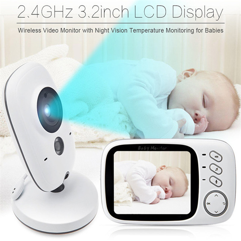 2017 Brand New 3.2-inch Large Screen Wireless Baby Monitor Caregiver Child Care Device Two-Way Voice Intercom Vision Talk Free new child gps smart watch anti lost monitor touch screen sos call location tracker finder device support russian english