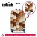 Cubierta de la cubierta de la bolsa de viaje equipaje recorrido de la manera geométrica cuadros Impermeable Protege Las Cubiertas para Maleta de la muchacha