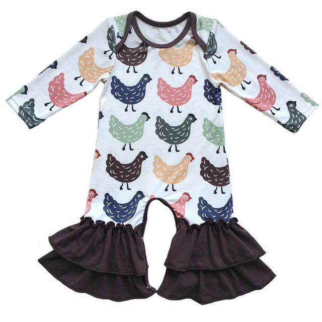 0bb674c4c9a95 Nouveau-né Bébé Vêtements Jumeaux De Noël Pyjamas Rouge noir imprimer  Hérissé Bas Bébé fille
