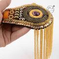 men/ women  fashion brooch epaulette tassel badge luxury