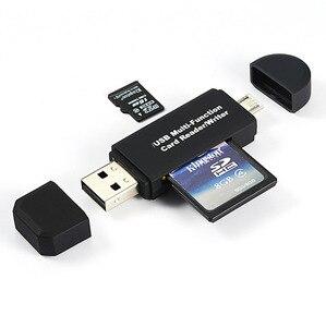 Image 2 - Vmonv 2 ב 1 USB OTG כרטיס קורא דיסק און קי גבוהה מהירות USB2.0 OTG TF/SD כרטיס עבור אנדרואיד טלפון מחשב PC זיכרון כרטיס קורא