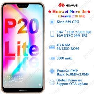 Image 3 - Globale Del Firmware Huawei P20 Lite Nova 3e Smartphone da 5.84 pollici 4GB 64GB/128GB Kirin 659 Octa core Android 8.0 Viso ID Impronte Digitali