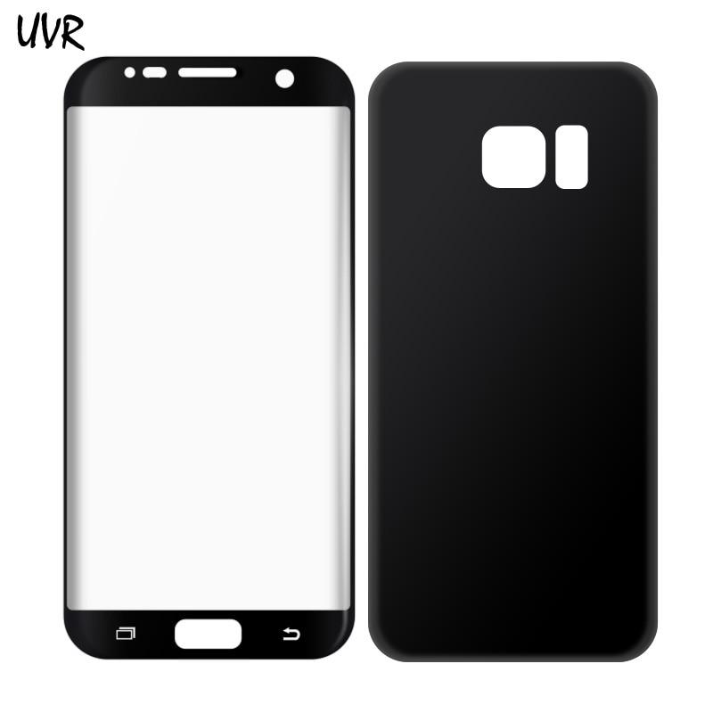 Pro Samsung Galaxy S7 edge HD Soft 3D Full Coverage Zakřivené Full Cover PET telefon Přední a zadní obrazovka Ochranný film pro S7edge