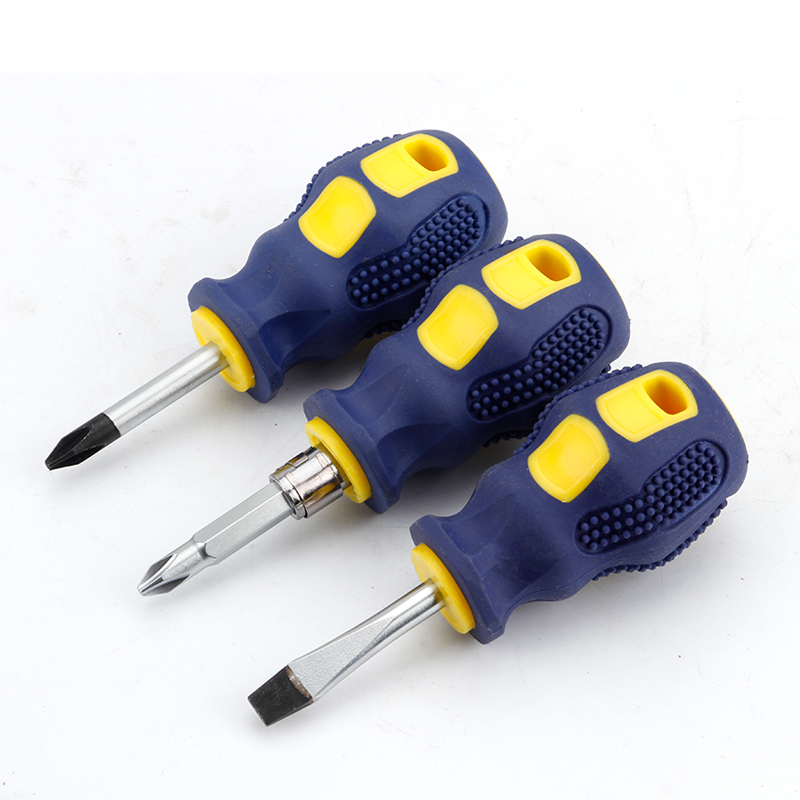 1Pcs Mini Screwdriver Set Multifunction Cross Shaped Screw Driver Slotted Flat DIY Repair Tools Magnetic Short Small Screwdriver
