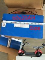 Нет налога Водонепроницаемый 60 V 2000 W 20Ah литий ионный eBike Батарея пакет аккумулятора электроскутера для Harley скутер, электрический велосипед
