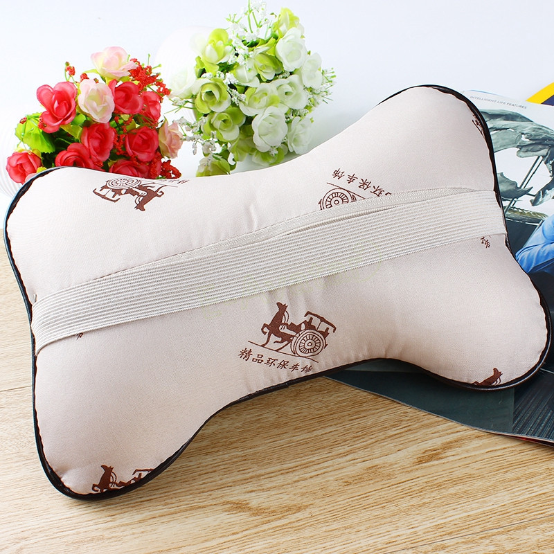 Best High Quality Leather Car Neck Pillow for Auto Safety