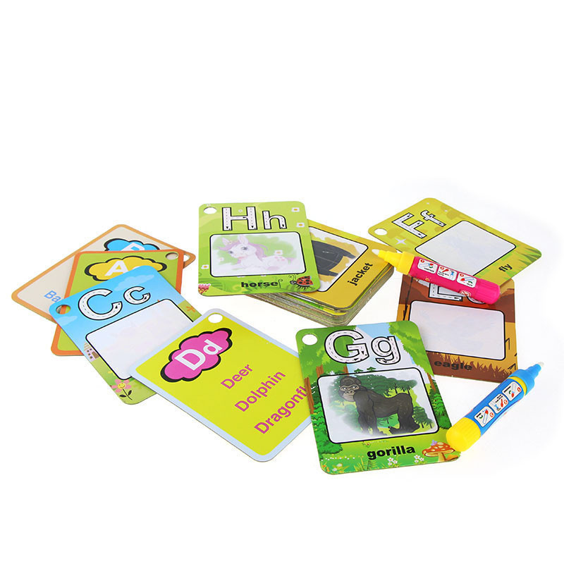 Water-Drawing-Card-26-English-Learning-Card-Magic-with-2-Pen-Letter-Card-Painting-Board-Educational-Toys-for-Kids-2
